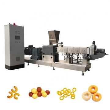 Good structure snacks making machine/high speed ice cream popcorn cone machine/ hollow tube corn puff snack extruder