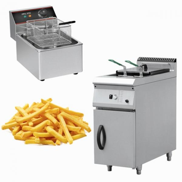 Double tank commercial chicken electric deep fryer #1 image
