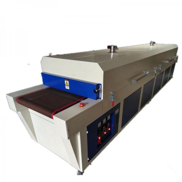 7m length Multifunction Infrared ray Hot air conveyor Drying Tunnel with preheating zone and cooling zone #3 image